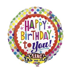 "Singender Helium-Luftballon ""Happy Birthday to you"""