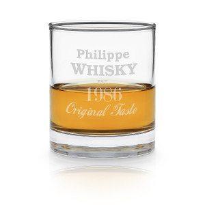 Whisky-Glas mit Gravur