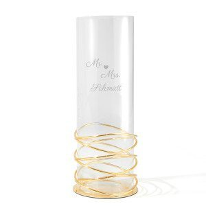 Windlicht-Spiralvase mit Gravur