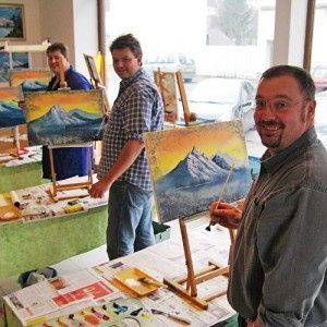 Wochenendseminar nach Bob Ross Landschaftsmalerei