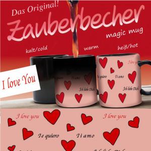 "Zauberbecher ""I love you"""