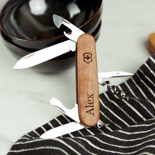 Victorinox Schweizer Taschenmesser mit Holzverkleidung inkl. Gravur